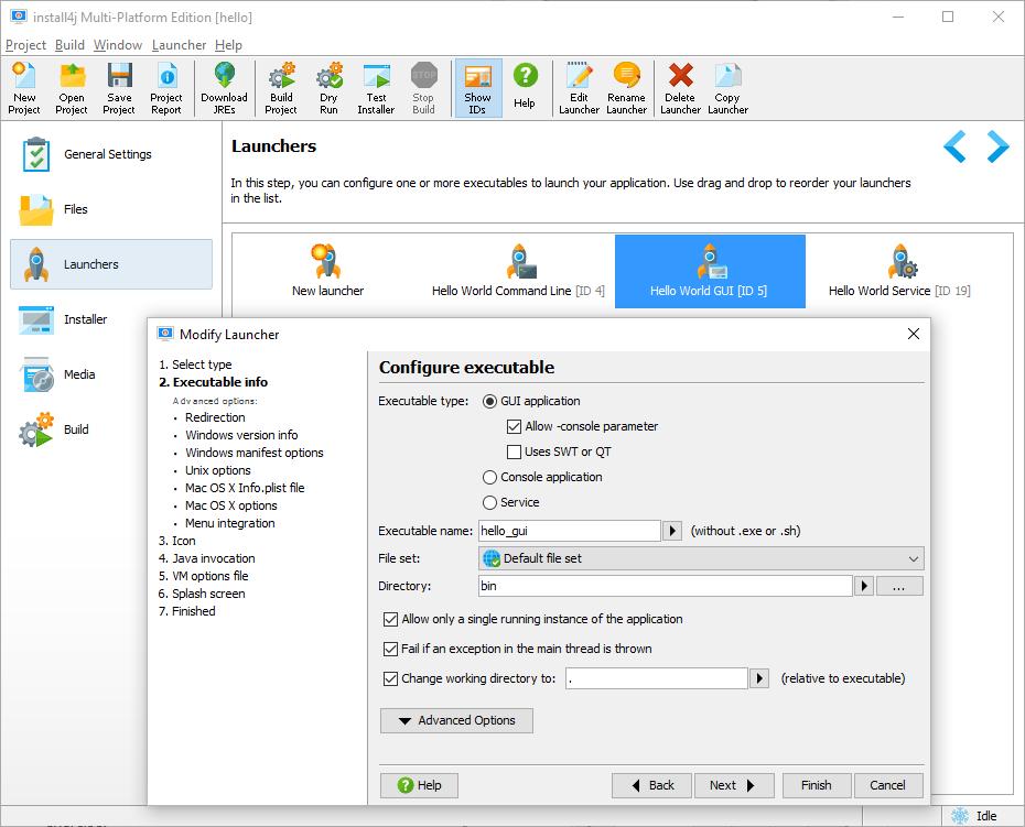 Multi-Platform Java Installer Builder - install4j