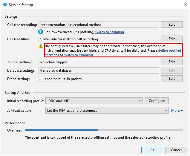 JProfiler Help - CPU profiling